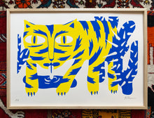 Load image into Gallery viewer, Silkscreen tiger A2
