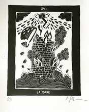 Load image into Gallery viewer, Silkscreen tarot - La Torre