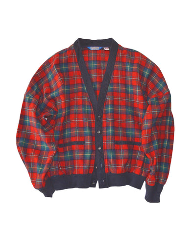 Pendleton Virgin Wool Check Cardigan