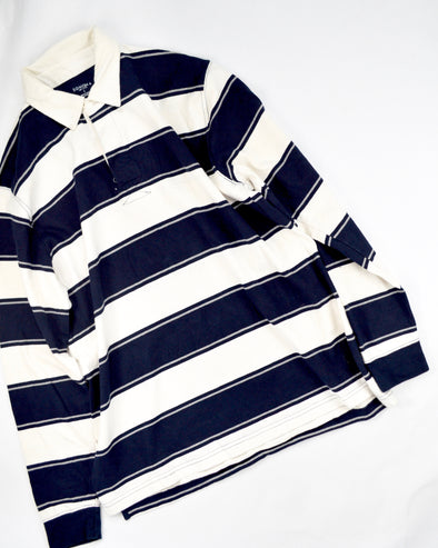 Rugby Shirt Navy×White Shirt