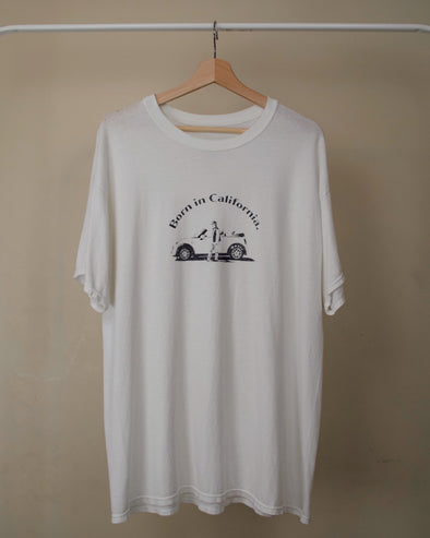 Born in California Original T-shirt (Front arch logo )