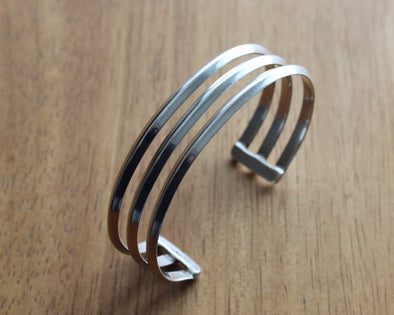 Navajo Sterling Silver Triple Bangle