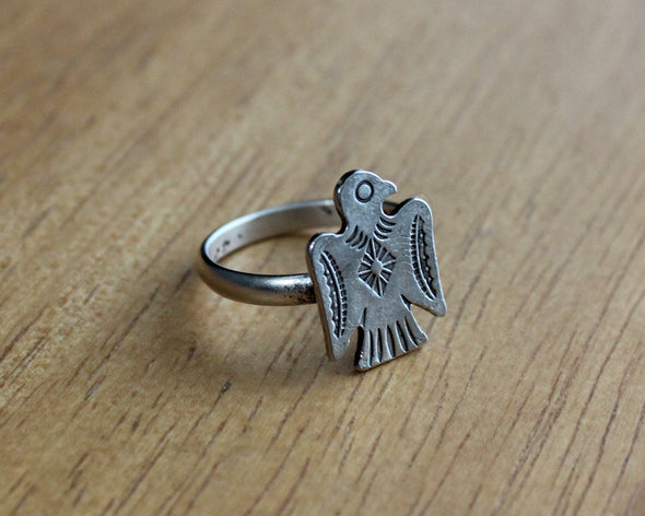 Silver Thunderbird Ring