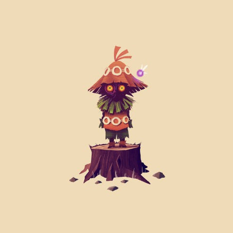 Skull Kid 5x5 by Olly Moss