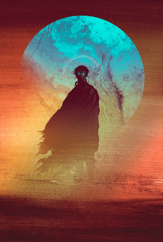 Paul (Dune Book Cover) by Matt Griffin - Screenprint - AP Foil Edition