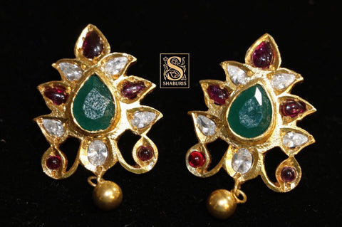 Latest Indian Jewelry,South Indian Jewelry,Indian earrings,Kids Jewelry,pure silver jewelry Indian,Lyte Weight Jewelry - NIHIRA - SHABURIS