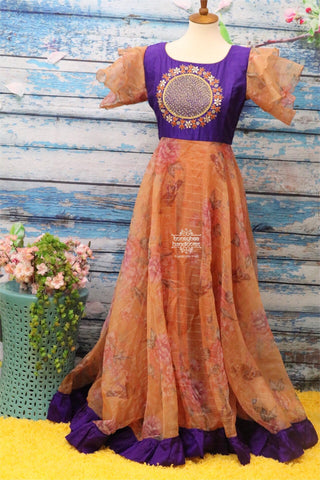 Organza dress,Indian Designer Long Frock,Indian Dress for women,Indian Stitched Dress for Women,Latest Indian Partywear organza