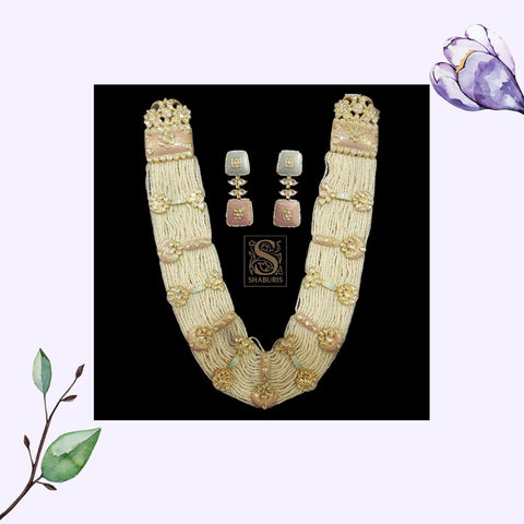 Indian Jewelry,Pure Silver Jewellery Indian ,Pearl Haar,Big Indian Necklace,Indian Bridal,Indian Wedding Jewelry-NIHIRA-SHABURIS