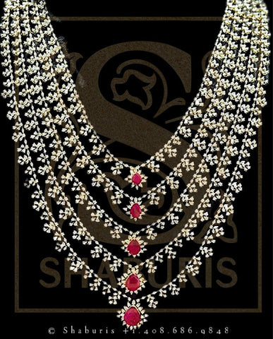 Latest Indian Jewelry,Pure Silver Jewellery Indian,Swarovski Necklace,Traditional Indian Bridal,Indian Wedding Jewelry,SouthJewelry-NIHIRA