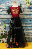 organza crop top,Kids crop top,skirt top,lehenga,pattu blouse,organza,floral  print,black dress ,red dress