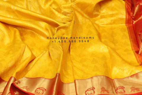Yellow pattu saree,Lyte weight Pattu Sarees online,South Indian Sarees,Pure Silk Sarees,Kanjivaram Saree,kanchi pattu saree,Handloom saree
