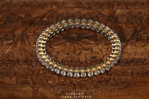 Diamond bangle indian,South Indian jewelry,Pure silver diamond pendent,swarovski bangle,Indian bangles -NIHIRA-SHABURIS