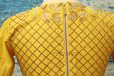 Saree blouse | bridal blouse | Saree stitched Blouse | floral work | Silk Blouse | Maggamwork blouse |Heavy work blouse|yellow saree blouse