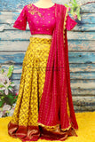 Lehenga | Indian Mehendi Dress | Indian Designerwear | Indian Bridal lehenga | bridal | Halfsaree|banaras Lehenga kids lehenga