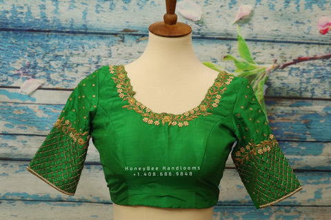 Saree Blouse| Saree Blouse |Maggam Work Blouse | saree stitched Blouse| Bollywood Blouse | Zardosi Work Blouse | HoneyBee Handlooms