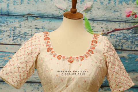Chikenkari Blouse |Zardhosi Work Blouse | saree stitched Blouse | Bollywood Blouse| Maggam Work Blouse | ZARI Blouse | HoneyBee Handlooms