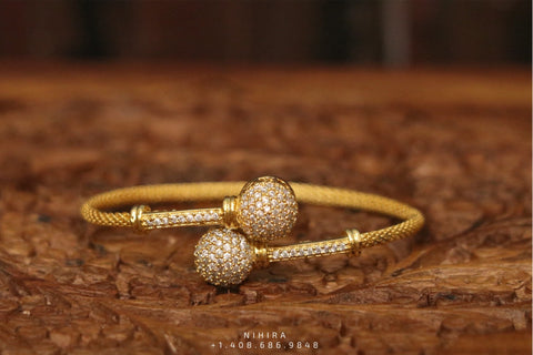 Diamond bangle,Gold Plated Jewellery Indian ,Artificial Jewellery,diamond bracelet ,Indian Wedding Jewelry-gifts-NIHIRA-SHABURIS