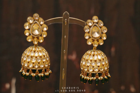 Jhumka Jewelry,Jhumka Jewellery,Pure Silver Jewellery ,Jhumka Earring,Pakistani Jewelry,Indian Bridal,Indian Wedding Jewelry-NIHIRA-SHABURIS