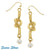 SUSAN SHAW Handcast Gold Love-Knot with Genuine Freshwater Pearl Earrings