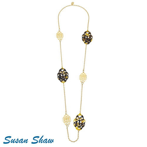 SUSAN SHAW TORTOISE FILIGREE NECKLACE