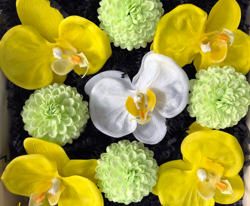 Soap Blooms: Phalaenopsis Orchids, PomPoms
