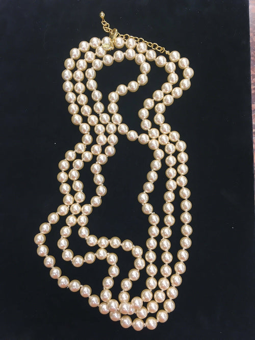 Joan Rivers Faux Opera length Pearl Necklace - 76 Inch Long!