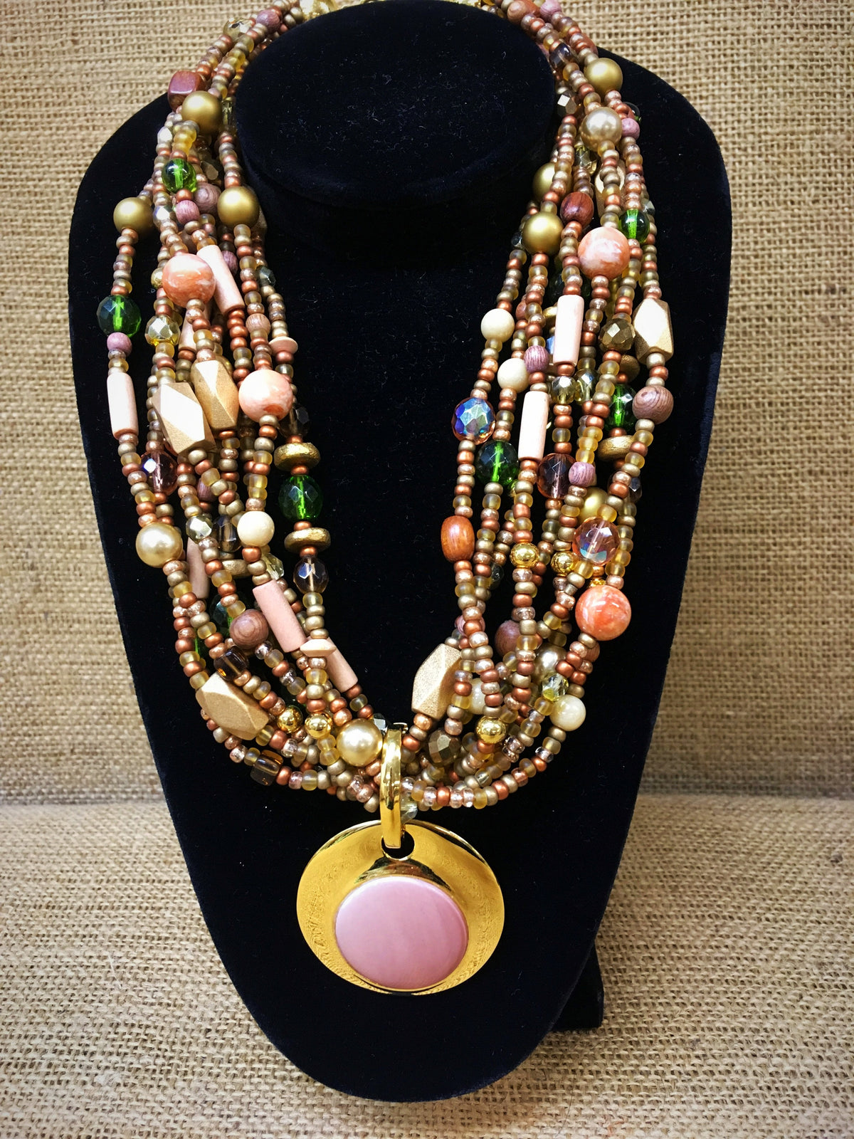Joan Rivers Multi-Strand Beaded Necklace with Pendant