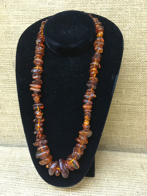 Vintage Amber Graduated Necklace