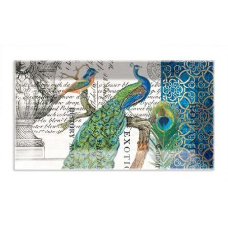 Peacock Rectangular Glass Plate