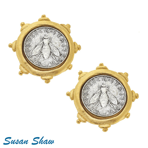 Susan Shaw: Iconic Bee Italian Coin Gold/Silver
