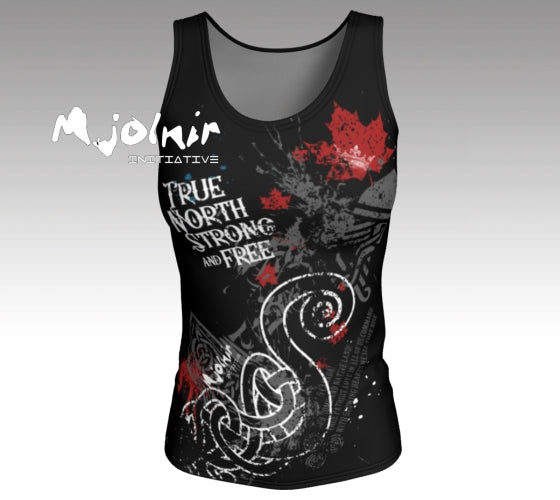 Fitted Tank Top - True North Strong and Free