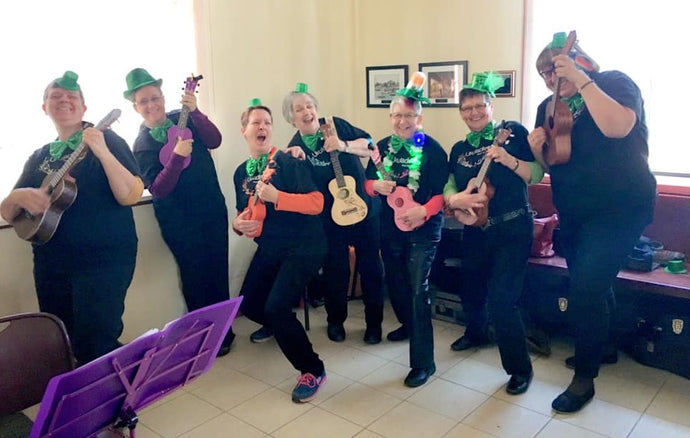 Ukuladies at St Patrick's Day Surprise Party