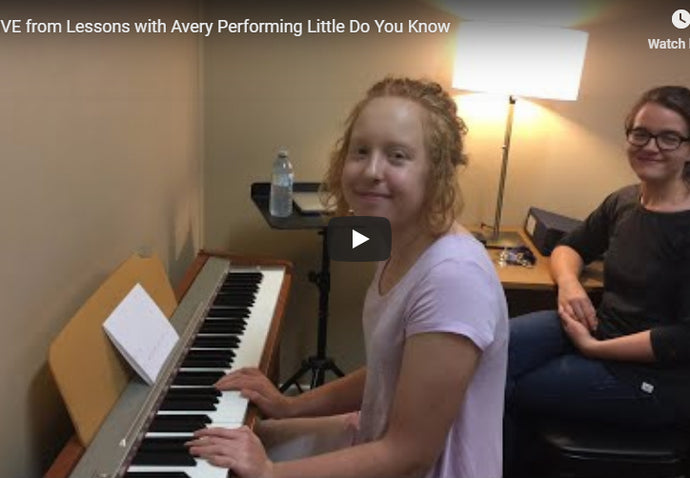 Live - with Avery Singing and Playing