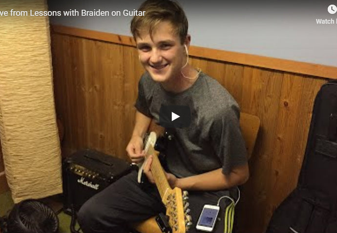 Live - with Braiden on Guitar