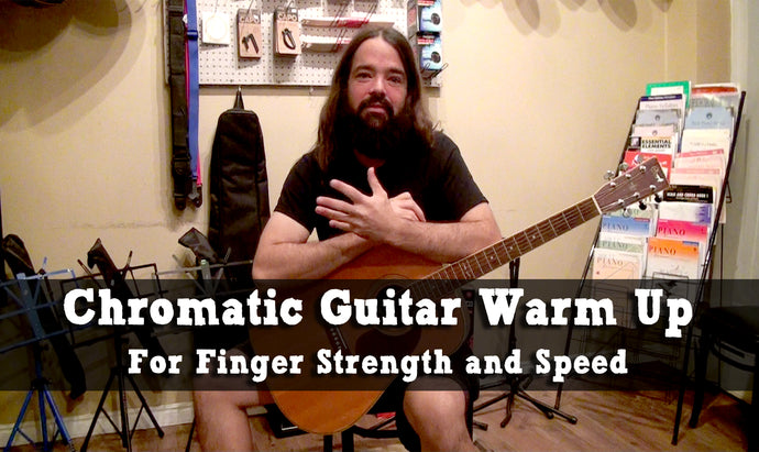 Chromatic Scale Guitar Warm Up To Increase Strength And Speed