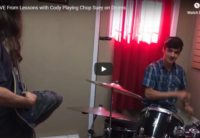 LIVE - Cody Playing Chop Suey Drums