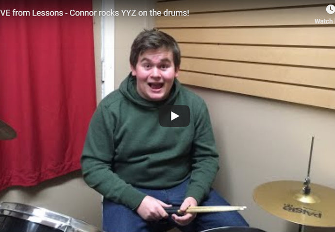LIVE - Connor rocks YYZ on the drums!