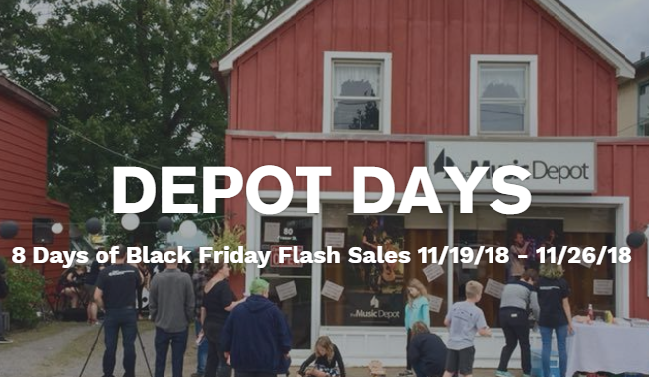 Depot Days is coming with 8 Days of Black Friday Flash Sales!