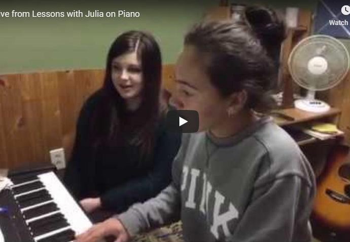 LIVE - with Julia playing piano and singing