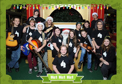 Santa and Music Depot Students at Christmas 2015