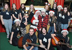 Santa and Music Depot Students at Christmas 2017