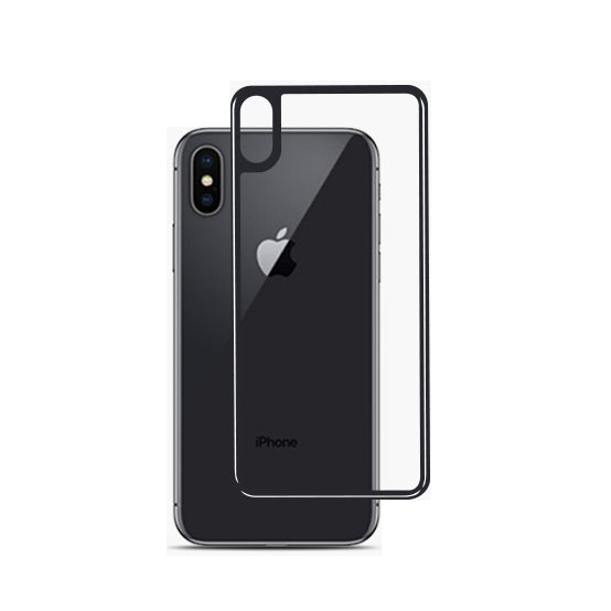 hot sale online beca9 9d295 Tatu Apple iPhone XS Max 3D tempered glass back protector, 0.25mm, Black