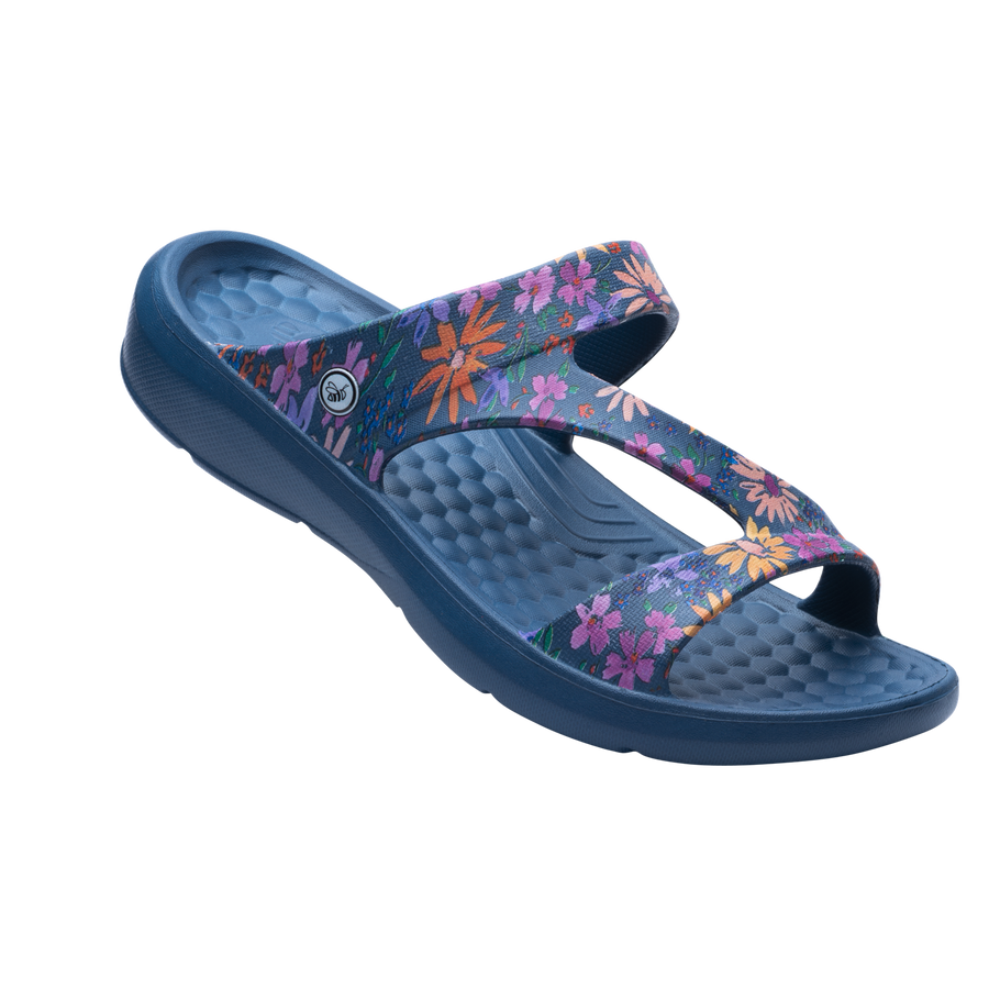 Womens Z Sandal - Navy Floral