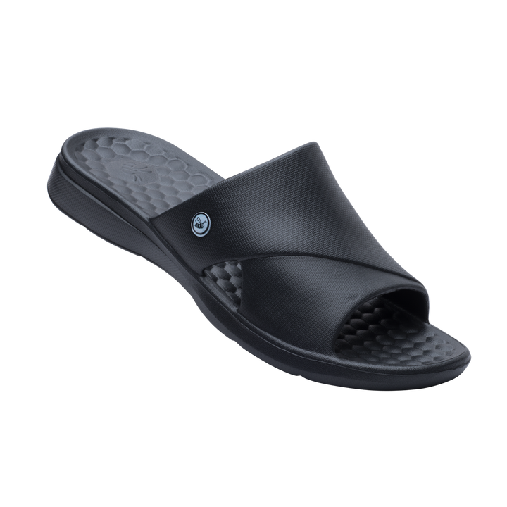 Mens Lounge Slide - Black
