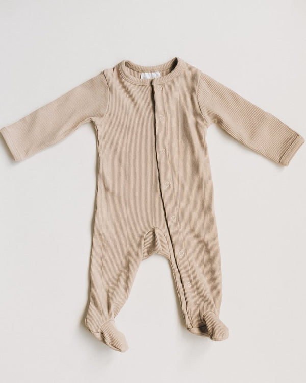 Sand Ribbed Footed One-piece