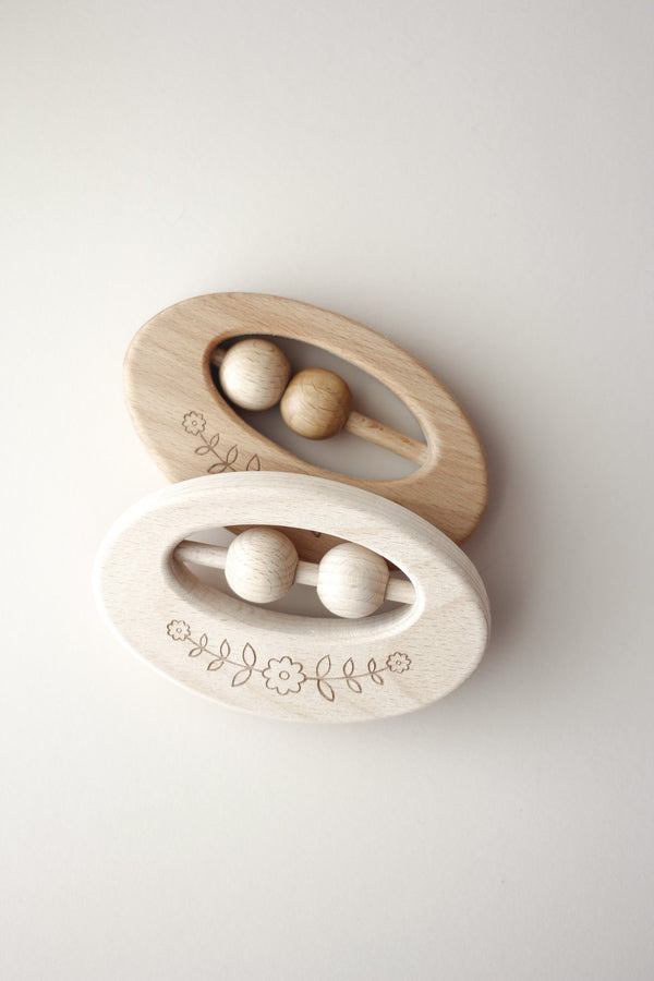 Boho Wood Rattle + Toy