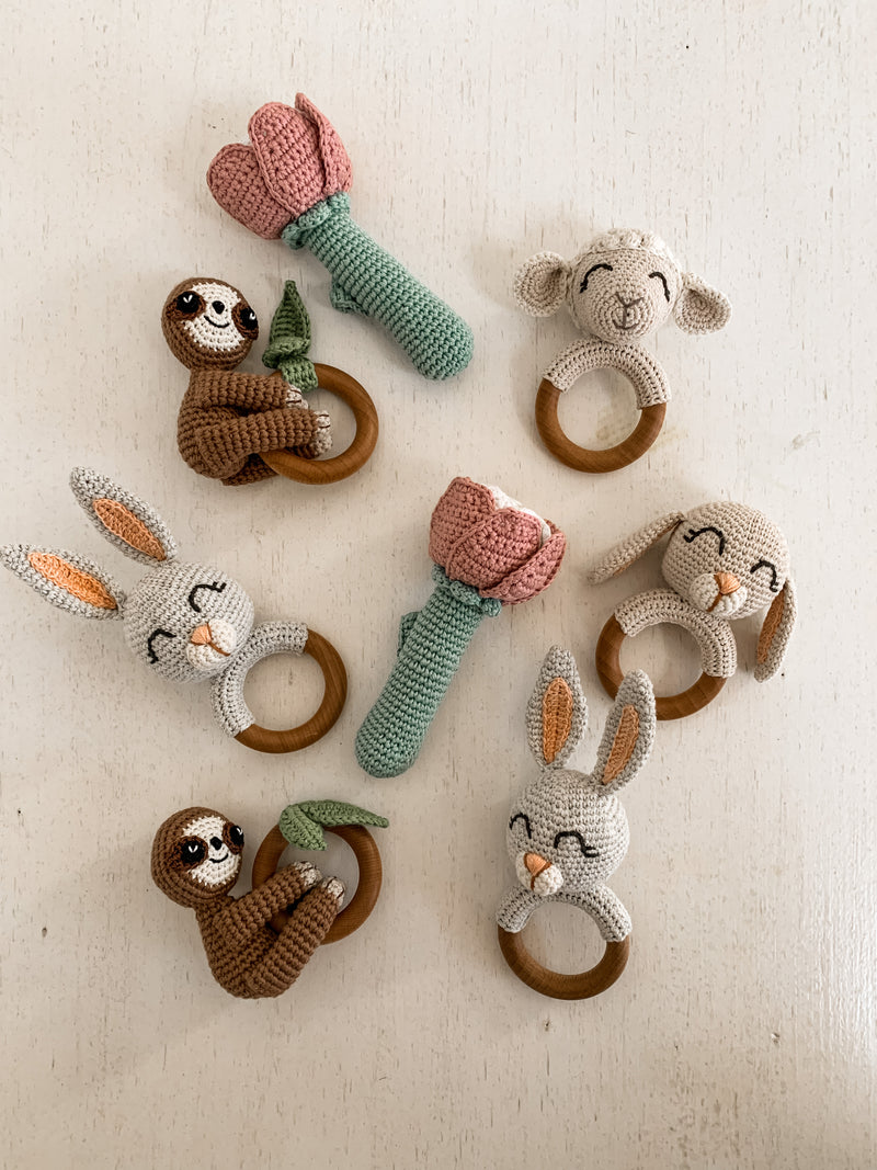 Handmade Sloth Rattle