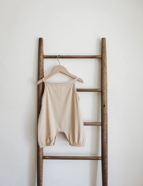 Faye Cotton Romper in Cream