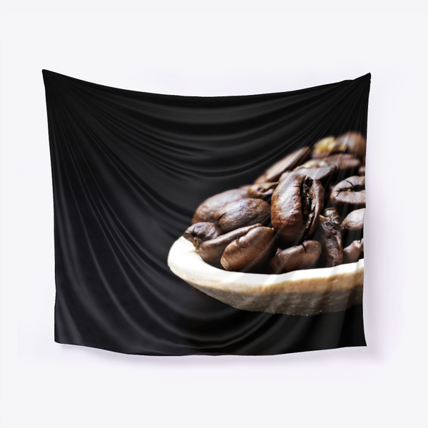 One Spoon Coffee Beans Wall Tapestry