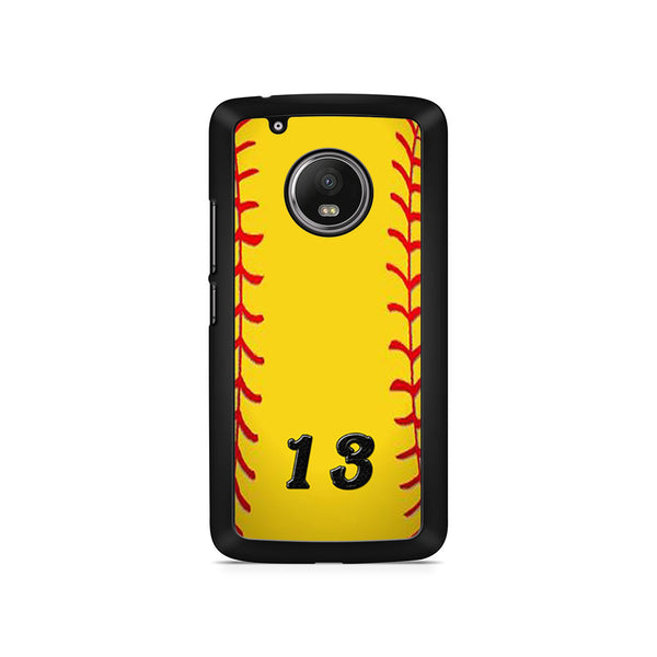 13 Custom Softball Motorola Moto G5 Plus Case